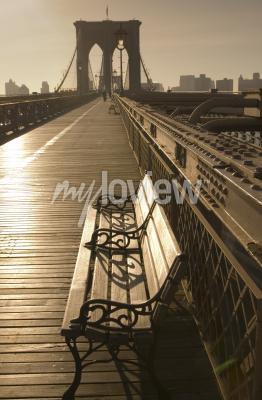 Image Pont de Brooklyn en sépia