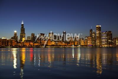 Papiers peints Chicago, Horizon, crépuscule