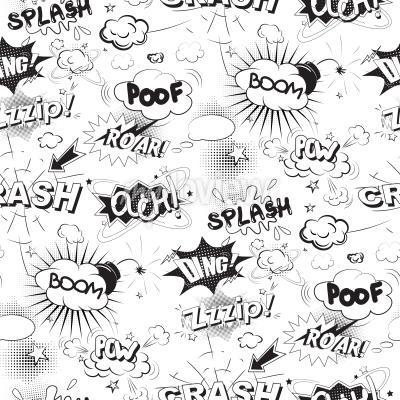 Papiers peints Comique, noir, parole, bulles, pop art, style ...