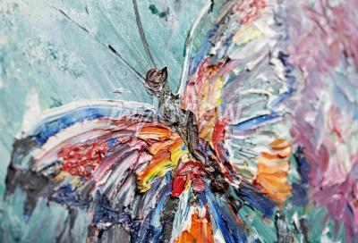 Image Closeup fragment de peinture à l'huile papillon