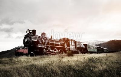 Papiers peints Vapeur, train, ouvert, campagne, transport