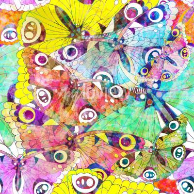 Image Seamless, modèle, coloré, papillons