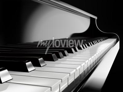 Image Piano, touches, noir, piano