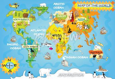 Carte du monde des enfants