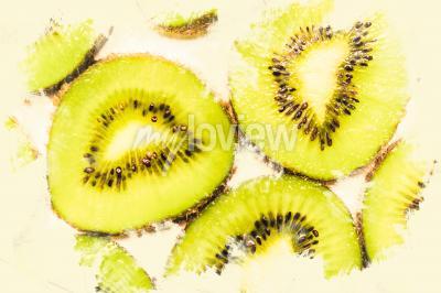 Image Creative, nourriture, art, tranches, kiwi, fruit