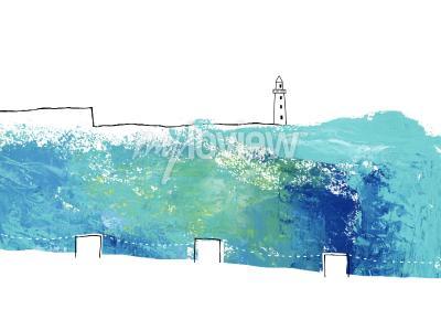 Papiers peints Emplacement avec vue sur le phare