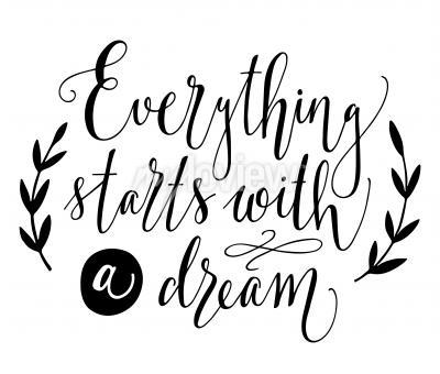 Posters Tout commence par un rêve