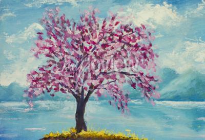 Image Fleurir, sakura, eau, huile, peinture