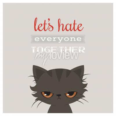 Posters Bande dessinée de chat en colère