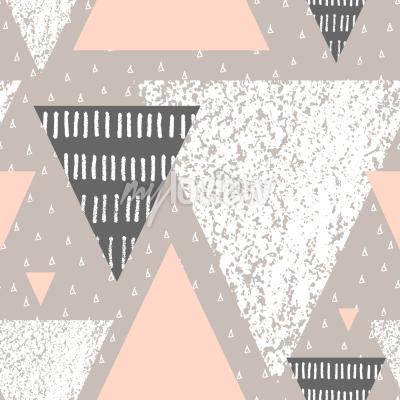 Motif De Répétition Géométrique Abstraite En Gris Blanc Et Rose Pastel