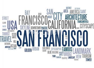 Papiers peints Nuage de mots de San Francisco