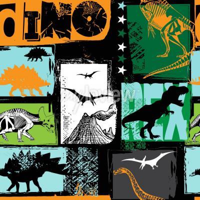 Papiers peints Design original avec dinosaure t-rex