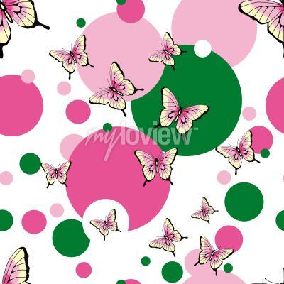 Papiers peints Modèle de vecteur transparente de papillons