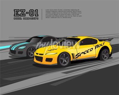 Papiers peints Modèle de conception de voiture de course