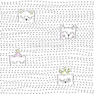 Papiers peints Vector illustration of seamless baby pattern