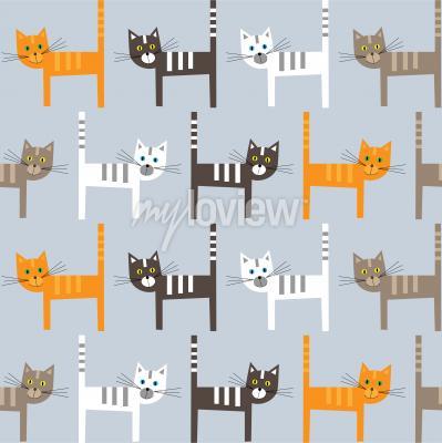 Papiers peints Cats pattern