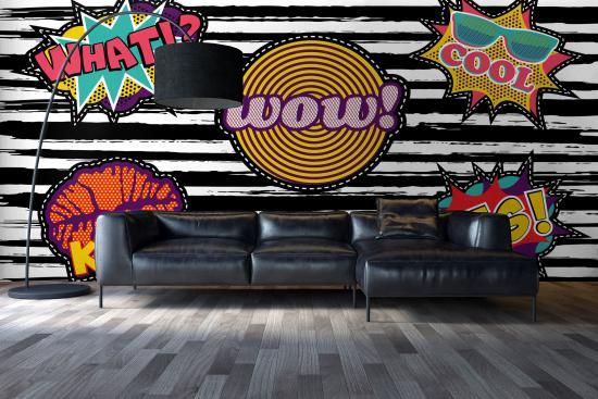 Pop Art Fototapete für Wohnzimmer