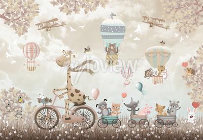 Papiers peints Happy giraffe