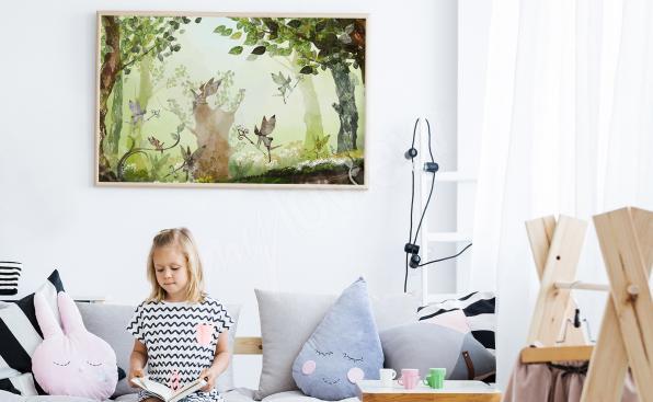 Affiche enfantine de la forêt