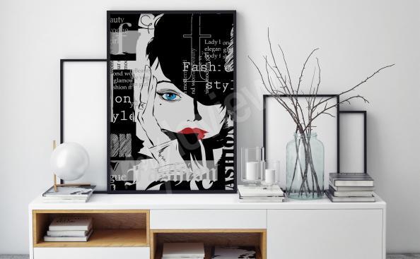 Affiche noir et blanc