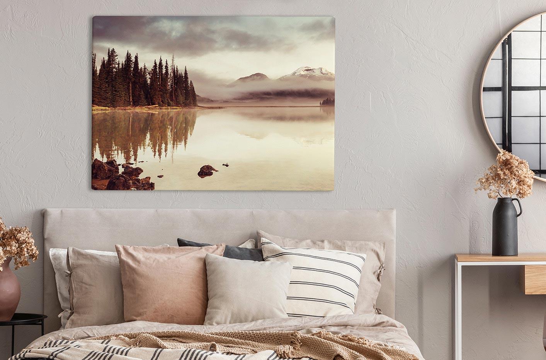 Image sur toile avec un paysage romantique