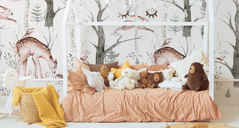 Les accessoires décoratifs pour une chambre de fille déclinés en 5 couleurs à la mode