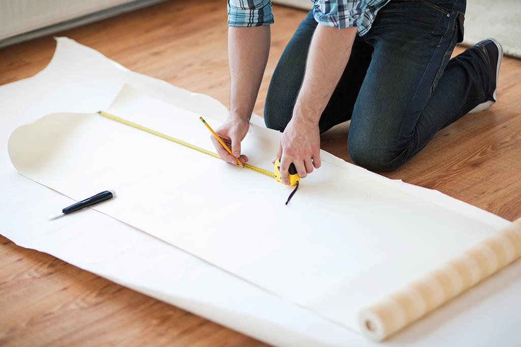 Mesure du papier peint
