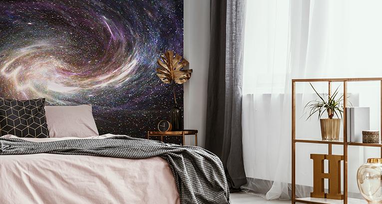 Papier peint cosmos - la façon de profiter du style galaxy dans vos intérieurs