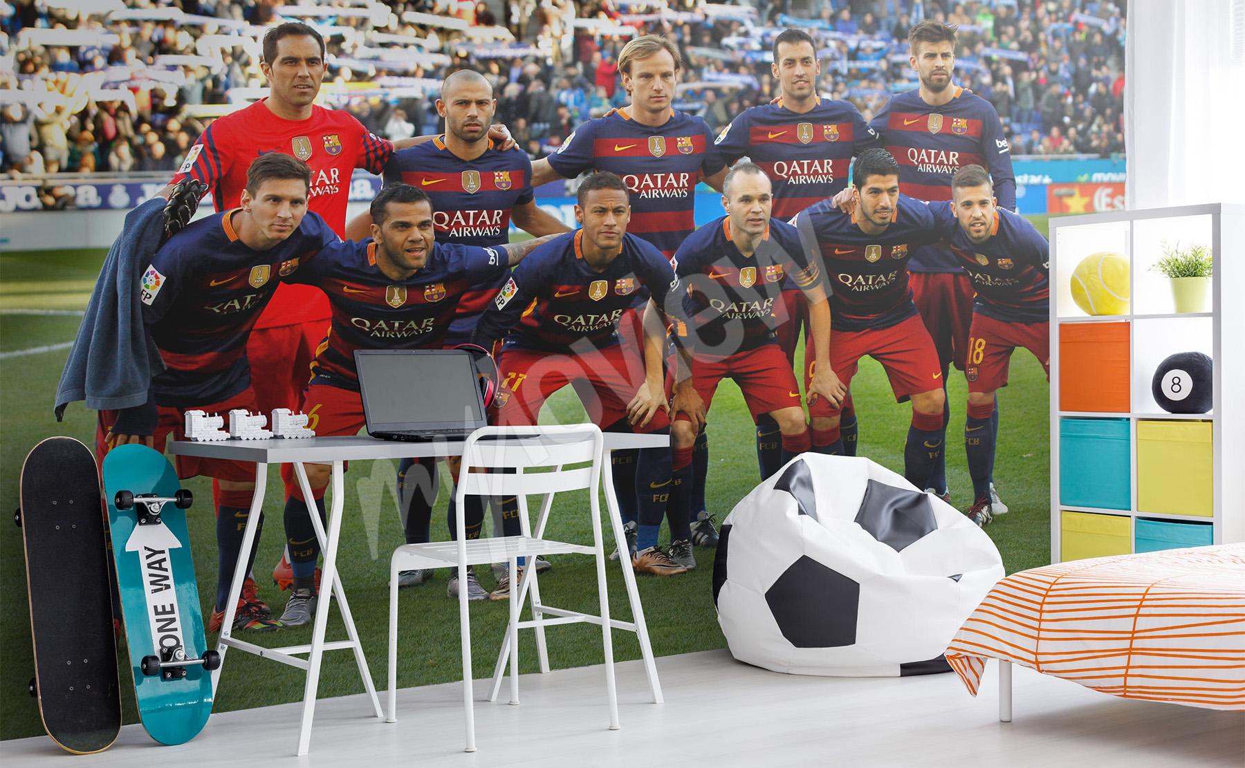 Papiers Peints Football Mur Aux Dimensions Myloviewfr