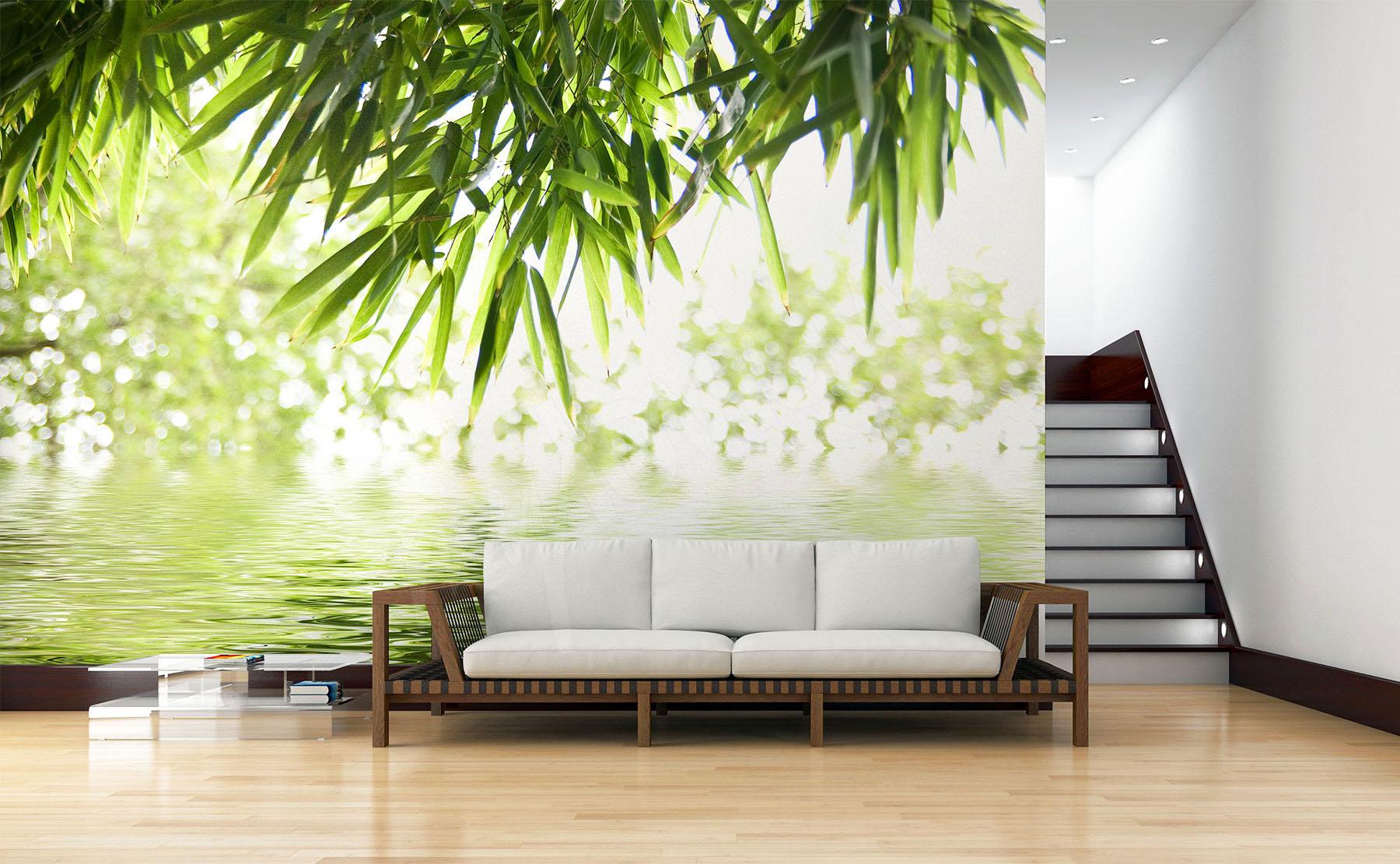 Papier Peint Motif Nature papiers peints bambous •mur aux dimensions | myloview.fr