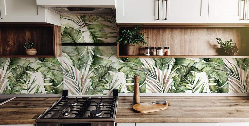 Papier peint feuille de palmier