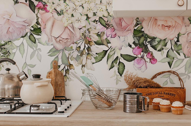 Papier peint fleurs de printemps