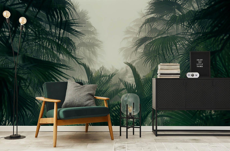 Papier peint jungle mystérieuse