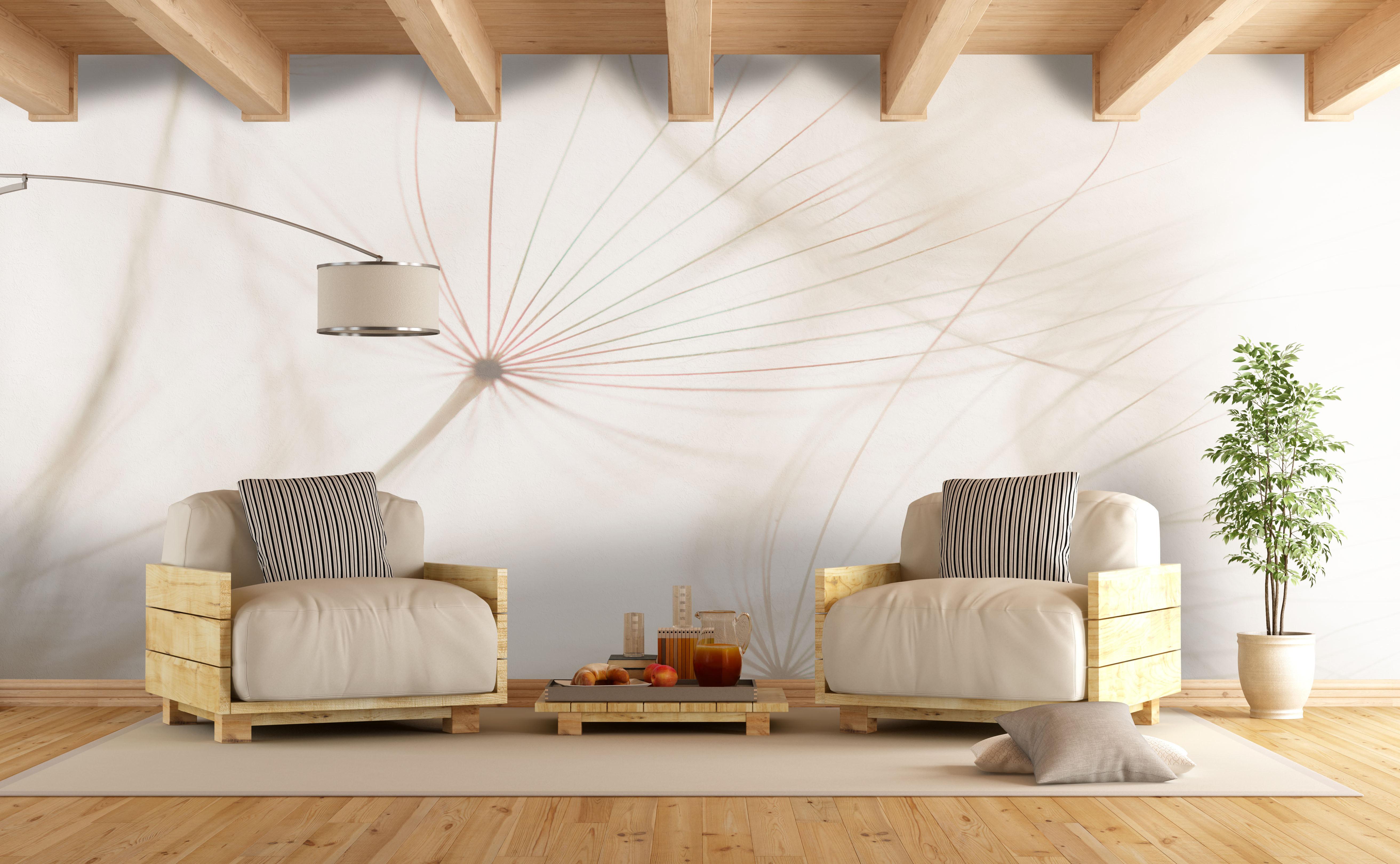 papiers peints pissenlit mur aux dimensions. Black Bedroom Furniture Sets. Home Design Ideas
