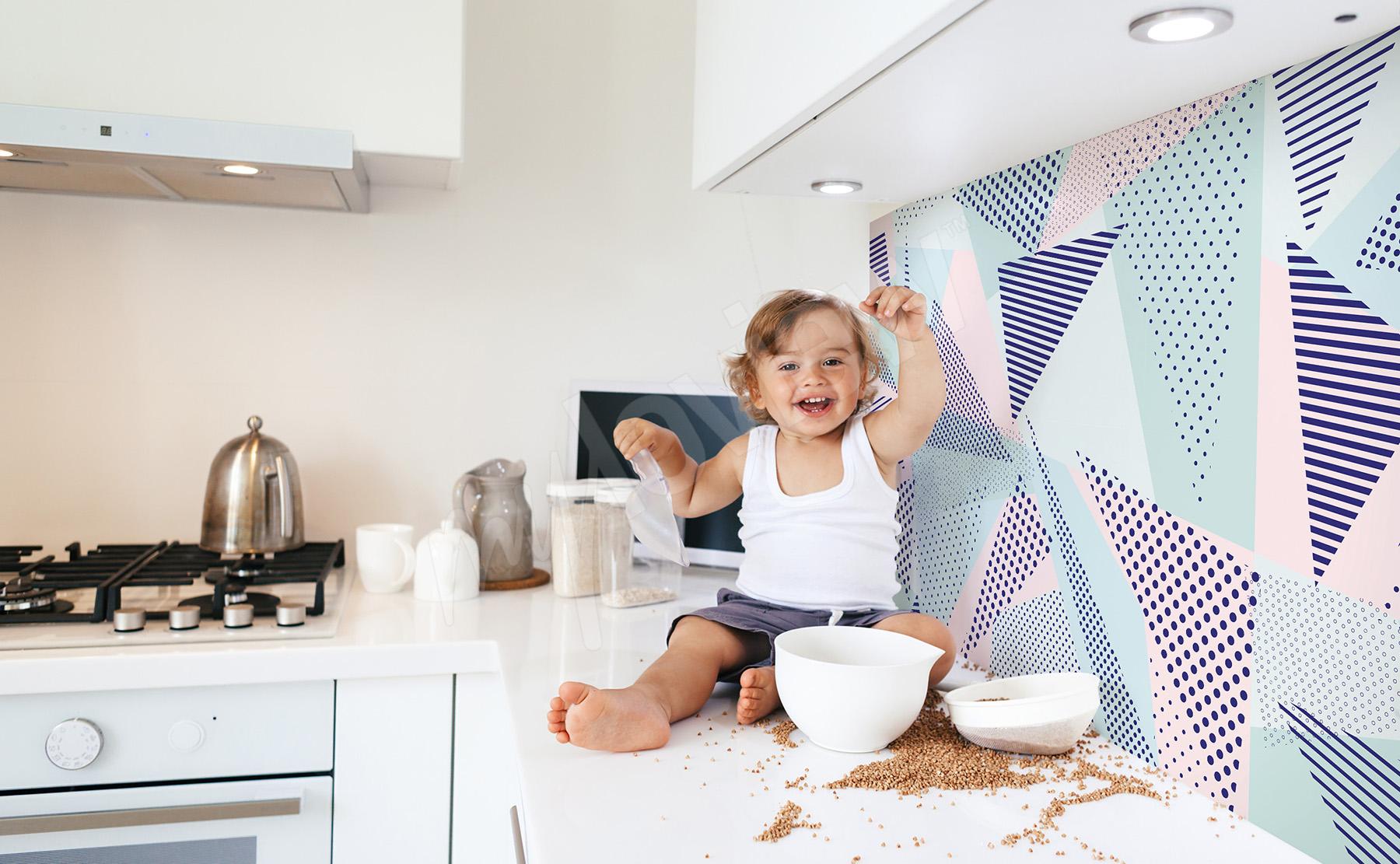 Papier Peint Pour Cuisine papiers peints cuisine •mur aux dimensions   myloview.fr
