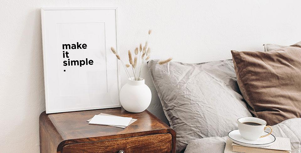 Poster avec texte minimaliste