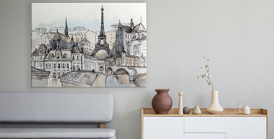 Poster panorama de Paris