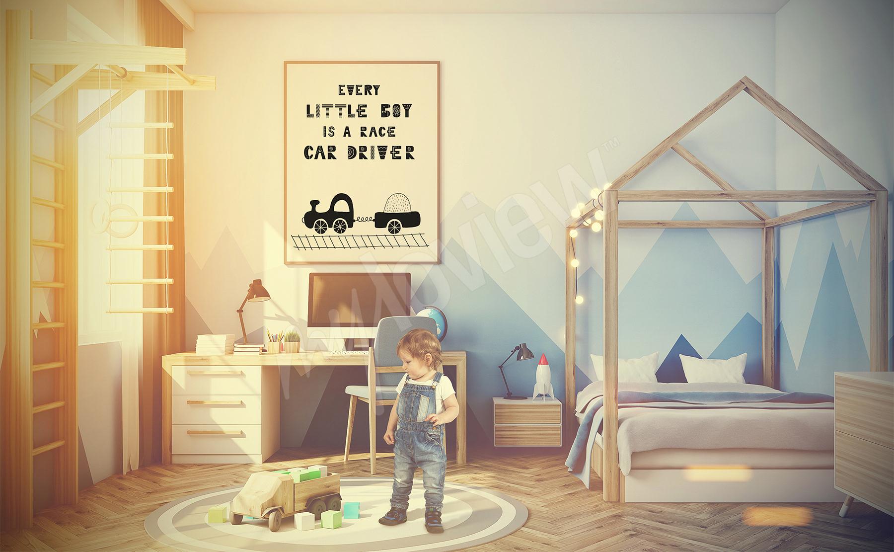 posters chambre de gar on mur aux dimensions. Black Bedroom Furniture Sets. Home Design Ideas