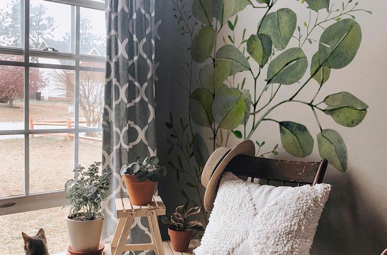 Sticker feuilles d'eucalyptus