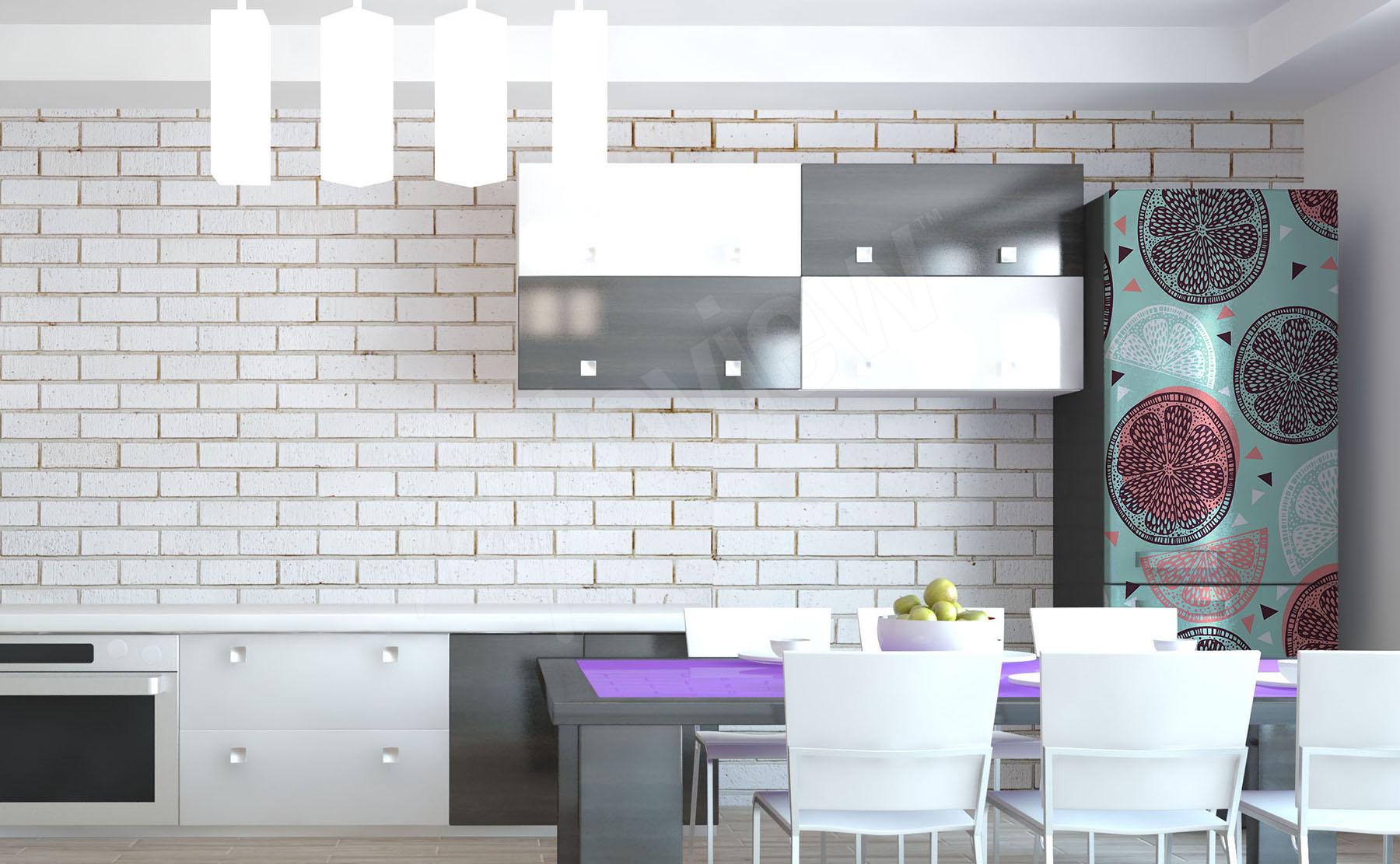 votre frigo vos murs/… couleur violet 3 Stickers splash une belle tache pour votre auto