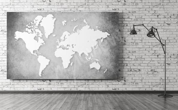 Carte du monde image noir et blanc