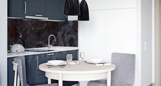 Découvrez comment décorer une petite cuisine afin qu'elle remplisse parfaitement son rôle !