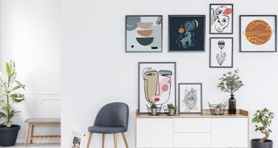 Gallery wall en 5 versions - décorez votre intérieur selon votre style