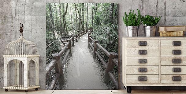 Image 3D avec forêt