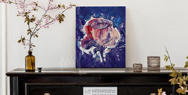 Image abstraite sur un fond bleu marine