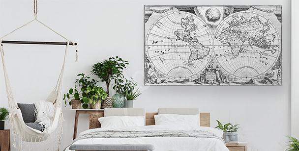 Image ancienne carte du monde