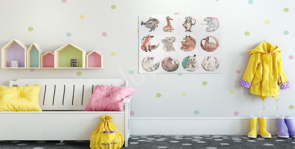 Image animaux pour chambre d'enfant