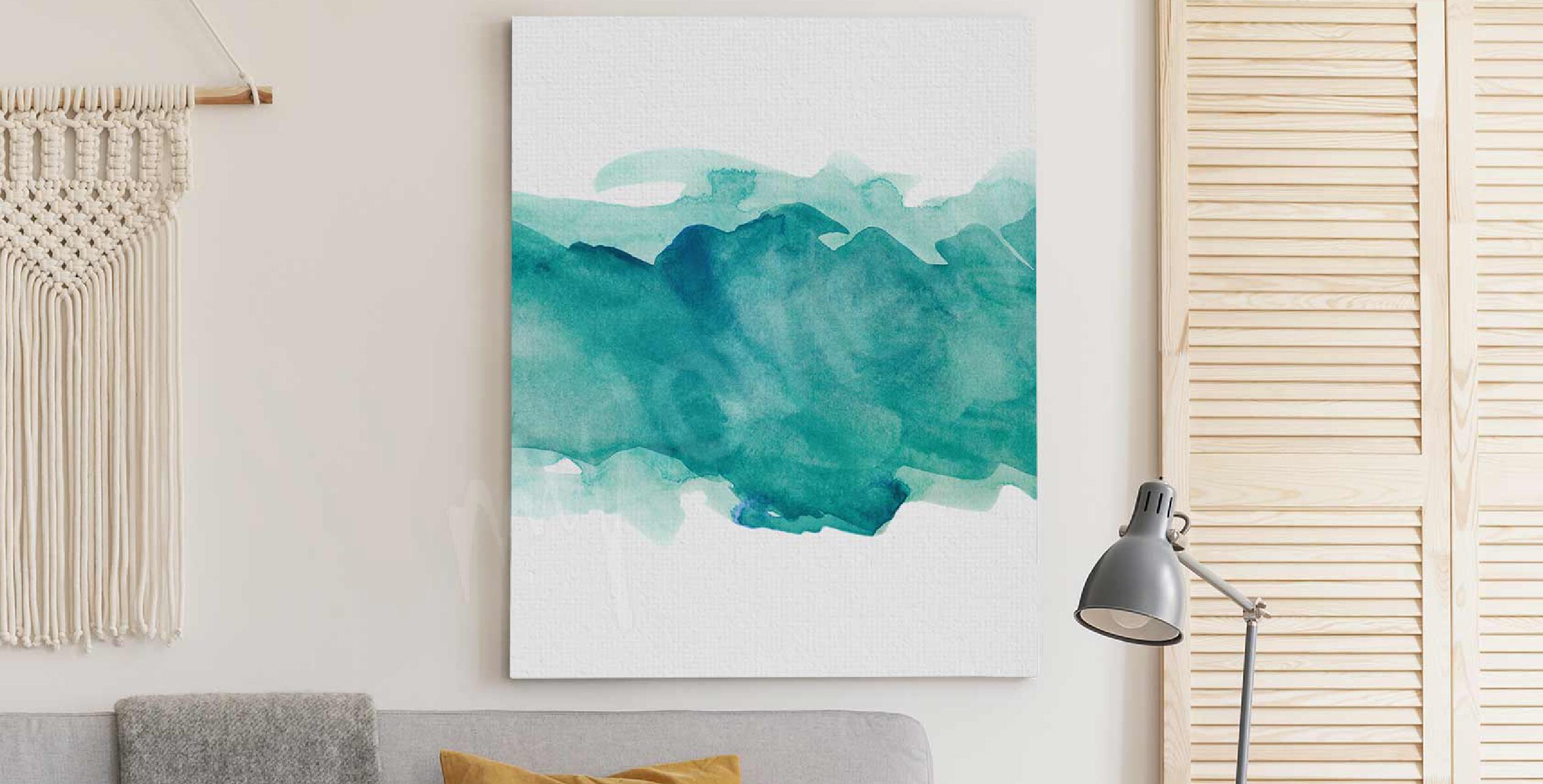 Image aquarelle aigue-marine