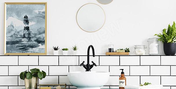 Image tryptique salle de bains
