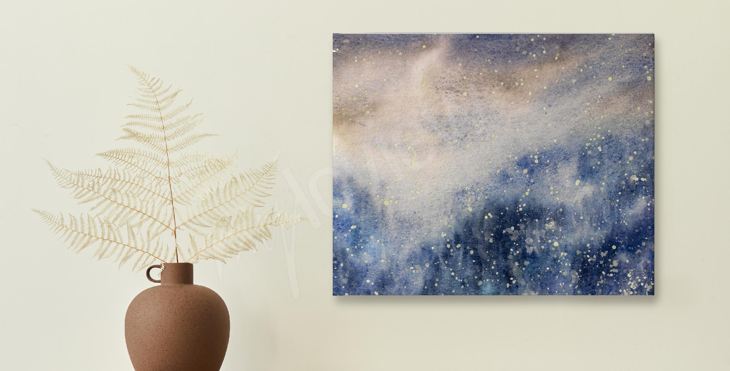 Image aquarelle et texture de neige
